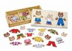 CHILDRENS CHILD MELISSA AND DOUG WOODEN BEAR FAMILY DRESS UP PUZZLE